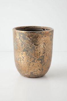 Metallic Crackle Herb Pot - anthropologie.com