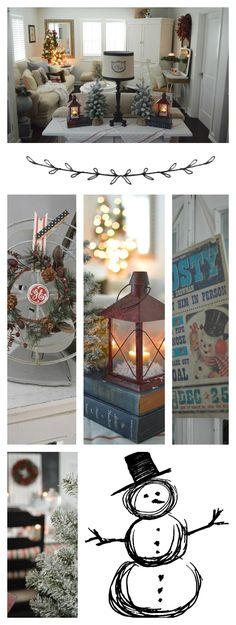Holiday Home Tour: Christmas at the Cottage. Full of vintage and thrifted holiday decorating finds!