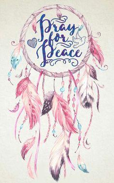 Pray for Peace! Phone Wallpaper Boho, Dreamcatcher Wallpaper, Aesthetic Iphone Wallpaper, Wallpaper Backgrounds, Dream Catcher Art, Dream Catcher Tattoo, Happy Hippie, Art Drawings For Kids, Hippie Art