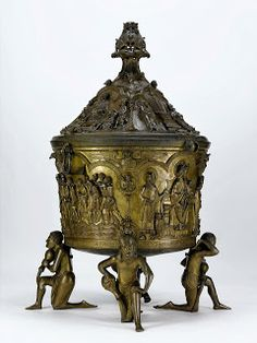 monumental Baptismal Font, cast in copper alloy in the early thirteenth century…