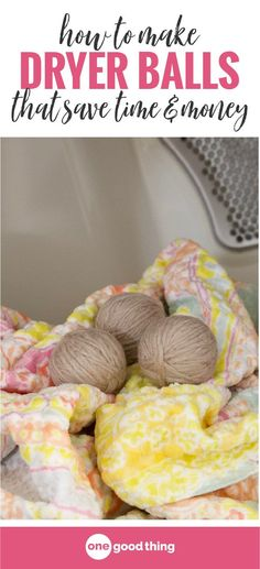 Using dryer balls can help you cut down the time it takes to dry your clothes, and it can save you money on your energy bill too! Learn how easy it is to make your own homemade dryer balls. #dryerballs #diydryerballs #moneysavingtips #laundrytips Diy Cleaners, Cleaners Homemade, Homemade Febreze, Cleaning Recipes, Cleaning Hacks, Cleaning Schedules, Cleaning Solutions, Diy Household Tips, Household Products