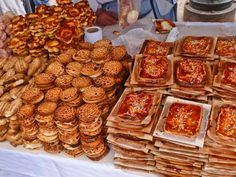Pastries for sale in the San Pedro Market - Cusco, Peru - http://www.everintransit.com/weird-wonderful-things-at-cuscos-san-pedro-market/