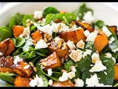Roast Pumpkin, Spinach and Feta Salad | RecipeTin Eats