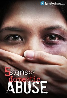 5 signs of domestic abuse: 1.An imbalance of power and control; 2.Intense jealousy; 3. Isolation; 4. Poor or strange appearance; 5. Abusers cycling behaviors or explosive behavior.