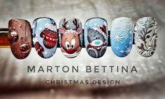 Christmas design #christmas #nail #nailart #naildesign #nailfashion #nails #santa #snowflakes #brillbird #bettinamarton #martonbettina #handpainted #handmade