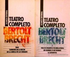 BERTOLT BRECHT- TEATRO COMPLETO- 2 TOMOS- ALIANZA EDITORIAL- 6 OBRAS DE TEATRO- COMO NUEVO - Foto 1