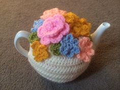 Pastel Floral Tea cosy for a medium or large by SpecialHandmade444