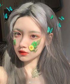 Pretty Korean Girls, Korean Beauty Girls, Cute Korean Girl, Asian Girl, Aesthetic Hair, Aesthetic Makeup, Aesthetic Photo, Uzzlang Girl, Girl Face