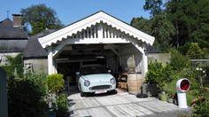 Nissan Figaro in its garage