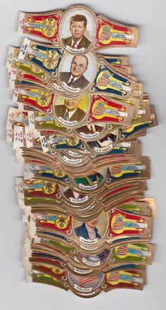 160 cigar bands Washington The Presidents Of The Usa iss in 1963, €12.50