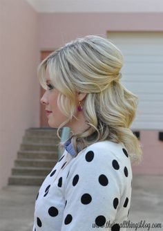 Looking for half up half down hairstyles? This look is perfect for events, weddings or even every day. See different ways to wear this look & then try it yourself!