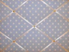 Large Cath Kidston Mono Rose Hand Crafted Fabric Notice  Pin