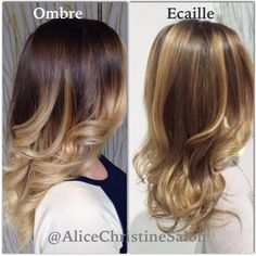 Ecaille hair color. Ombré to Ecaille. Tortoiseshell hair color