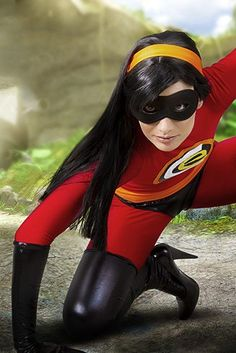 Love the Incredibles? Then creating a Violet costume for Halloween would be a great idea!