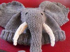 Knitting: Baby Big Ears Elephant Beanie Hat