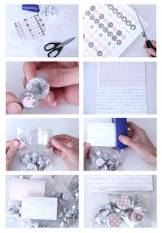 """How to make Elephant """"Kisses"""" Party Favor Bags. Pink Elephant Baby Shower 