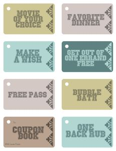 FREE Coupon Book {for him} - Great no cost gift idea!