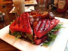 Grilled watermelon sandwich.  This is on my new sandwich list!
