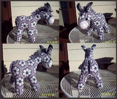 "Crochet Stuff Bears african flower pony (looks like jackass to me, I love it!) ~ No content found on this ""page "". Crochet Amigurumi, Diy Crochet, Crochet Crafts, Crochet Dolls, Crochet Projects, Crochet Food, Knitted Dolls, Crochet Motifs, Crochet Toys Patterns"