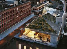 DVF, Work Architecture, Meatpacking, Diane von Furstenberg, flagship store, Stairdelier, Heliostat Mirror, roof garden, adaptive reuse nyc, Swarovski Crystals, DVF Flagship
