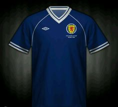 Scotland home shirt for the 1982 World Cup Finals.