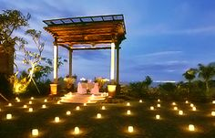 Romantic Dinner at 'Asmara Gazebo' http://www.ayanaresort.com/en/resort/romantic_dining_experiences/#