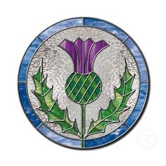 This would be great coloring for a tattoo, with Sassenach written around the circle.Glass Thistle