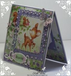 Gorgeous hand made birthday card using Wild Rose Studio new releases Image - Bluebell Panel Papers - Bluebell  Die - Butterfly Burst