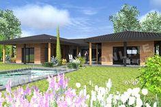 plan de maison MARYSOL vue piscine