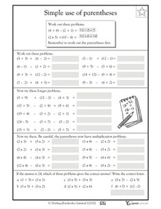 math worksheet : 1000 images about math pemdas on pinterest  order of  : Pemdas Math Worksheets