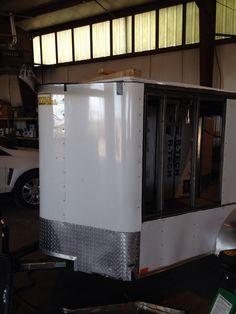Nose job ;) Enclosed Trailer Camper Conversion, Enclosed Trailers, Kitchen Appliances, Diy Kitchen Appliances, Home Appliances, Kitchen Gadgets