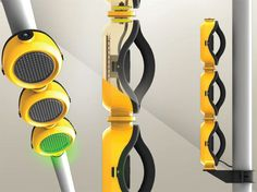 Sólo traffic light project consists of modular light which can be utilized for variety urban signaling functions. As traffic signaling light, it is composed 3d Modelle, Yanko Design, Traffic Light, Smart City, Street Lamp, Light Project, Industrial Lighting, Interactive Design, Sustainable Design
