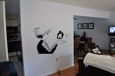 Howl's Moving Castle Sophie and Calcifer Wall Decal. $29.99, via Etsy.