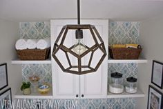 DIY Lighting Ideas and Cool DIY Light Projects for the Home. Chandeliers, lamps, awesome pendants and creative hanging fixtures,  complete with tutorials with instructions | Dodecahedron DIY Light Fixture | http://diyjoy.com/diy-projects-lighting-ideas