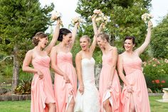 Bridal party, Photography by L&G images, NZ wedding photographers. Family Photography, Wedding Photography, Bridesmaid Dresses, Wedding Dresses, Family Portraits, Portrait Photographers, Our Wedding, Bridal, Vineyard