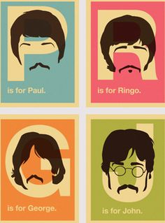 The Beatles alphabet prints.