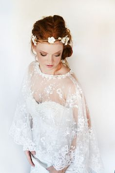 Oh so Pretty bridal lace cape  Bohemian coverup by SoBridelicious, $100.00