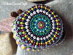 Mandala stone zen rock meditation stone by MariaLucescuCrafts