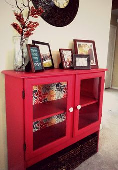 DIY hutch. This would be cute for our small dining area.