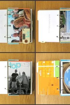 Keep things classic with a scrapbook or travel binder:   20 Ways To Display Keepsakes From Your Travels And Trips