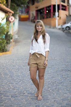 4ddf231b1bb86 camel brown + white+ havaianas sandals Zara Shirt