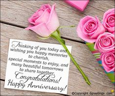Thinkig of you today and wishing you happy memories to cherish. Happy Marriage Anniversary, Anniversary Message, Wedding Anniversary Wishes, Anniversary Cards, Wedding Quotes, Are You Happy, Study, Messages, Memories
