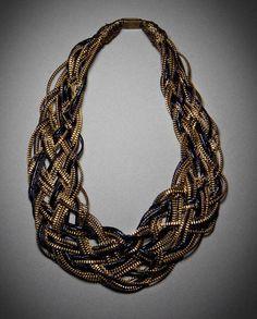 El Purgatorio de la moda: Collares Cremallera que puedes hacer tu misma: DIY