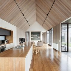 Pavilion style architecture on the beach at Barwon Heads
