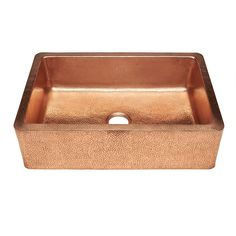 Weston Farmhouse Apron Front Pure Copper 33 in. 0-Hole Single Bowl Kitchen Sink in Unfinished Naked Copper