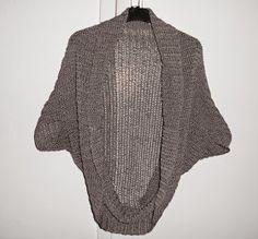 """Häkelkleider selbst gemacht: Jacke.. gehäkelt, nicht gestrickt  >> In einer FB-Gruppe werden diese Jacken """"Seelenwärmer"""" genannt. ❤"""