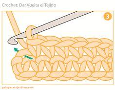 Crochet: Vueltas del Tejido  Guía Para Tejer Bien