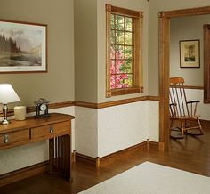 paint colors for dining room with chair rail | Chair rails: Even with no chairs present, they fulfill a need