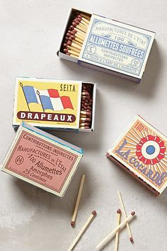 vintage french matchboxes #anthrofave