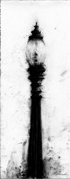 Kyle Frink: November 2011   Charcoal Lamp Post
